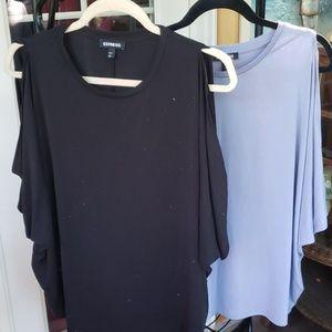 Express cold shoulder shirts L